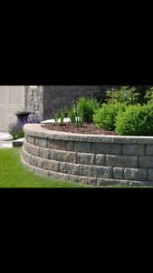 Stone mason-retaining wall, fire place, landscaping, restoration