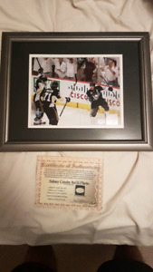 Signed Sidney Crosby 8x10 photo in frame