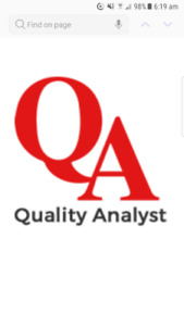 QA ANALYST MANUAL & AUTOMATION COURSE STARTS SOON ON WEEKENDS