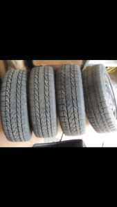 Bfgoodrich winter tires 195 65 R15 with rims