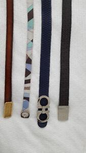 Womens Designer leather belts: Fendi, Ferragamo, D and G