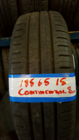 185 65 15 MATCHING CONTINENTAL TYRES 8MM X4£90 INC FIT N BAL OPN 7 DYS