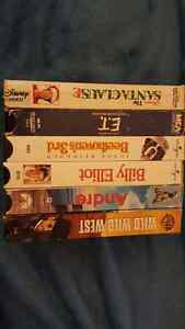 6 VHS CLASSIC MOVIES. 90'S KIDS MOVIES. VHS.