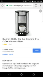 Coffee machine with built-in grind!