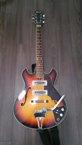 Brentwood hollow body electric guitar.