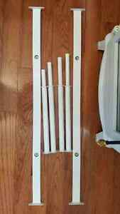 Ikea KOMPLEMENT Pull-out clothes rail in white × 2