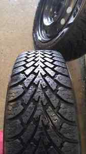 Set of 205/55/R16 Goodyear snow tires on rims Cambridge Kitchener Area image 4
