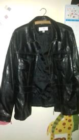 Next women's faux leather jacket size 16