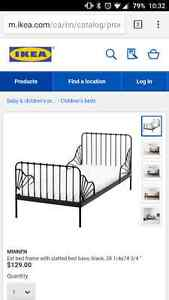 Kids metal bed frame and mattress never used