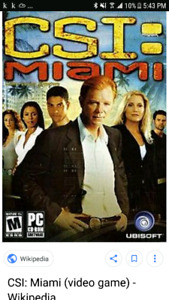 CSI Miami jeu de PC