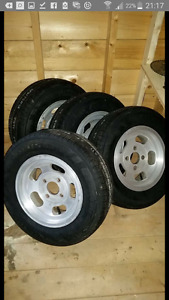 Aluminum slotted rims with brand new tires