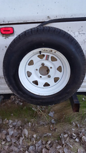 New trailer wheel Tire never been used
