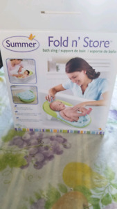 Summer fold and store bath sling