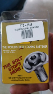 Stage 8 locking header bolts sbc