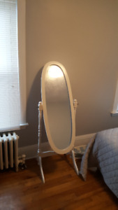 "Standing Oval Rustic Mirror 16.5""*46.5"""