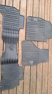 Ram floor mats for a quad cab truck