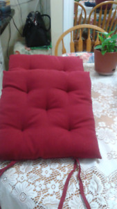 Burgundy / red chair pads