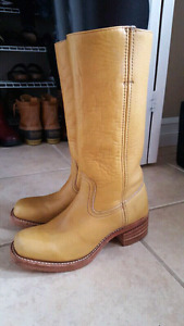 Frye campus engineer 14L leather boots, size 9