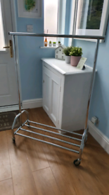 Heavy Duty Clothes Rail with Shoe Rack - Durable and Sturdy