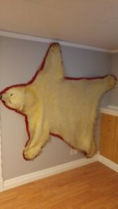 Excellent condition Polar Bear and Barren Grizzly rugs