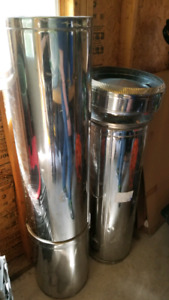 Insulated stove pipes and cap for wood stove