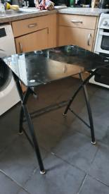 Back glass table/computer desk