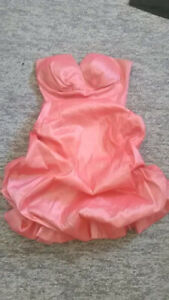 Small grad dress  and matching heels size 6
