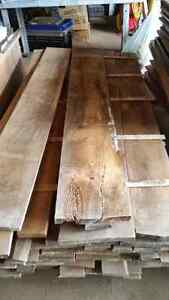 Pine boards weathered