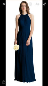 Bill Levkoff Bridesmaids Dress - Navy