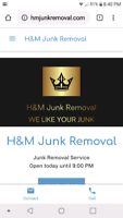 Junk Removal All payment methods accepted