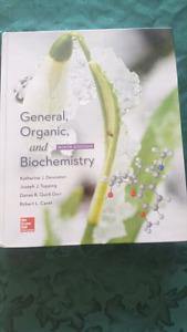 General, organic, & biochemistry textbook
