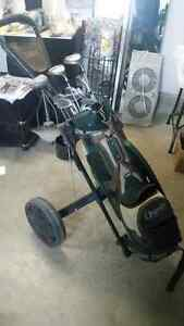 Golf set with cart