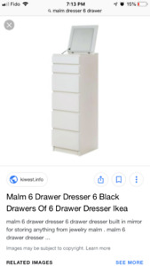 WANTED!!! Looking for white malm dresser