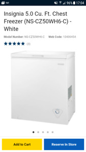 Brand New In Box!  5 cu ft Freezer