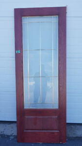 30 '' solid wood iteriors doors with pivacy Glass