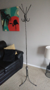 Wrought Iron Coat Rack-ASKING $35 or OBO