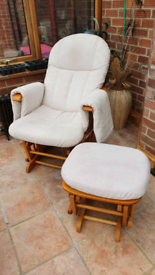 Rocking Chair relaxation Chair Nursing Glider Maternity Chair with Gli