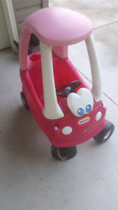 Little tykes pink sparkly cozy coupe