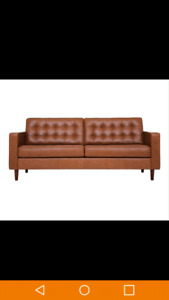 Eq3 Reverie leather Couch