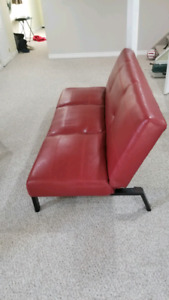 Futon Leather Red
