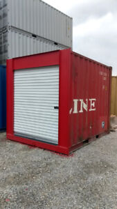 10' Shipping Container with Roll-Up Door