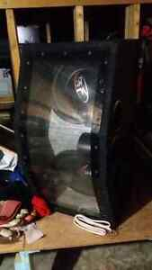 2 rockford and fosgate 12inch subs in ported box.