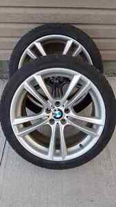 "BMW 20"" rims and near new all season tires St. John's Newfoundland image 1"
