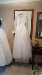 Wedding dress, Vail, tiara,