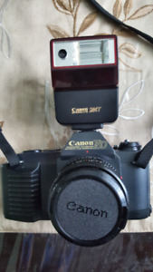 Canon T50 camera with premium Canon bag. 1983