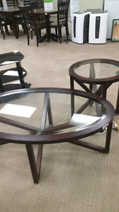 Ashley sleffine 3 piece coffee and end table set $200