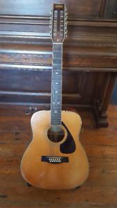 Vintage Yamaha FG-512 12 String Acoustic Guitar
