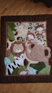 Ensemble de literie pour bébé 8 pièces-Safari