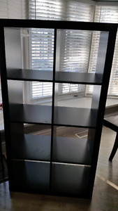 IKEA Black/Brown 8 Cube  Cabinet