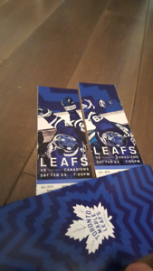 Maple Leafs tickets vs Montreal Canadiens.